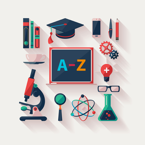 Education Icons Vector Free Download Modern Education Icons Vector