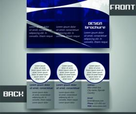Modern tri-fold business brochure cover vector 01