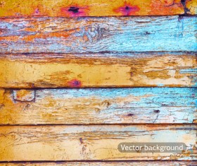 Old wood boards textures vector background set 01