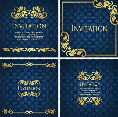 Ornate gold ornament invitation card background vector 02 vector ornate gold ornament invitation card background vector 02 stopboris Image collections