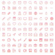 Pink line ios8 style icons