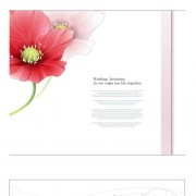 Link toPink red flower wedding cards vector