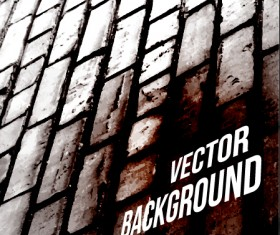 Realistic brick wall vector background 03