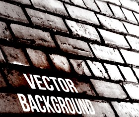 Realistic brick wall vector background 04