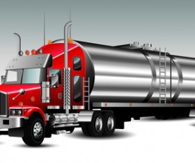 Realistic delivery truck vector design graphics 01
