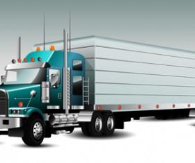Realistic delivery truck vector design graphics 02