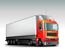 Realistic delivery truck vector design graphics 04