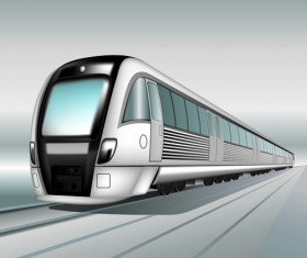 Realistic speed train vector material