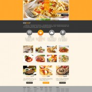 Restaurant cuisine website psd creative template