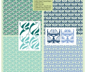 Retro decorative pattern seamless vector graphic