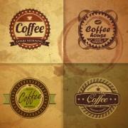 Link toRetro design coffee label vector 02