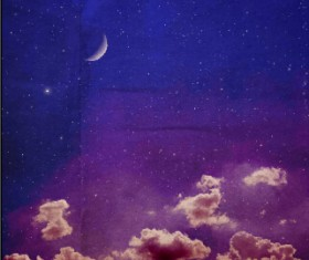 Retro night sky vector background 02