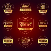 Link toRetro premium quality sale labels vector set 01