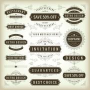 Link toRetro ribbon labels design graphics vector 04