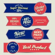 Link toRetro style sale banners set vector 04