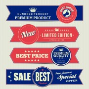 Link toRetro style sale banners set vector 05
