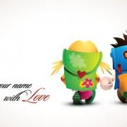 Link toRomantic cartoon characters design vector 01