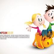 Link toRomantic cartoon characters design vector 02