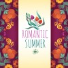 Romantic summer floral cards design vector 02