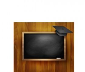 School blackboard design vector background 04