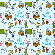 Link toSchool elements with students seamless pattern vector 03