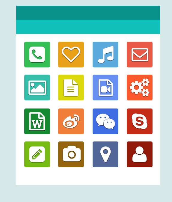 Simple app iocns psd material over millions vectors for Easy app design