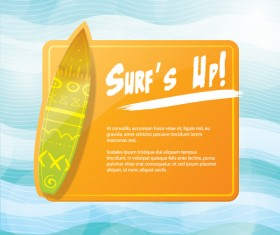 Simple surfing poster design vector