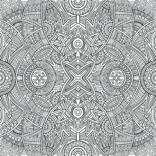 sketch abstract floral vector seamless pattern 01 free download