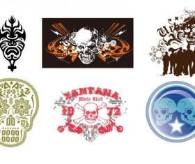 Skull design vectors set