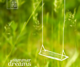 Summer dreams creative background vector