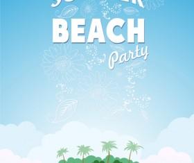 Travel summer beach background set vector 04