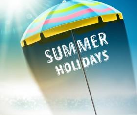Travel summer beach background set vector 08