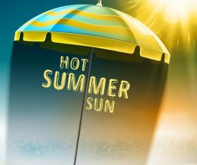 Travel summer beach background set vector 09