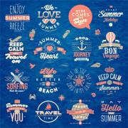 Link toTravel summer holiday labels set vector 02