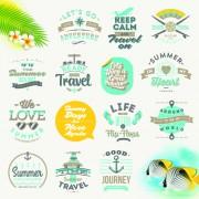 Link toTravel summer holiday labels set vector 05