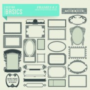 Link toVector retro frames design graphics set 02