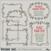 Link toVector set art frames design elements 01