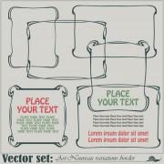 Link toVector set art frames design elements 02