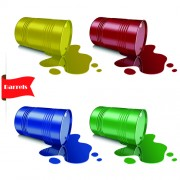 Link toVector set of colored barrel vector material 05