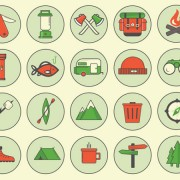 Vintage camping outdoors icon