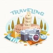 Link toVintage traveling style background art 03