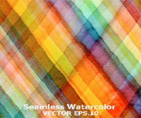 Watercolor checkered pattern seamless vector
