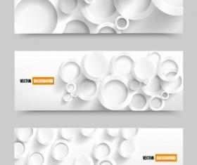 White paper banner vectora material 01
