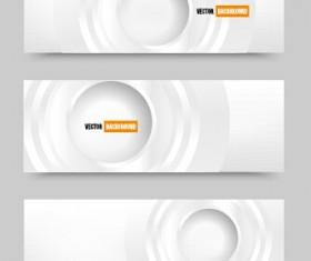 White paper banner vectora material 02