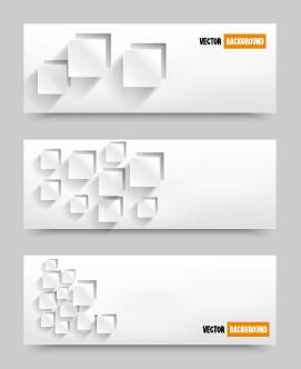 White paper banner vectora material 03