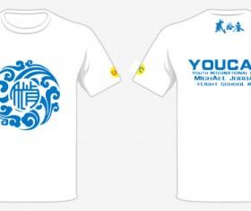 White t-shirt design template vector