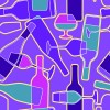 Wine elements seamless pattern vector 02