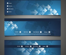 World maps and modern banners vector 03