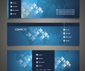 World maps and modern banners vector 04