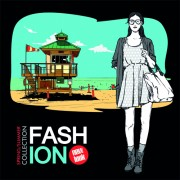 Young fashion elements poster vector 05